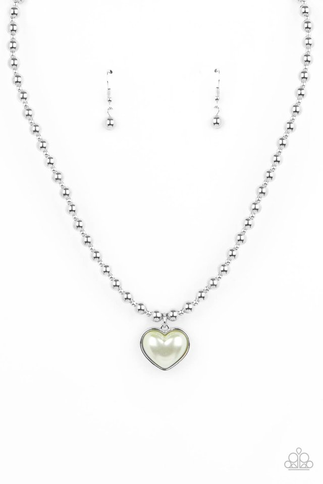 Heart Full of Fancy - Green - Paparazzi Necklace Image