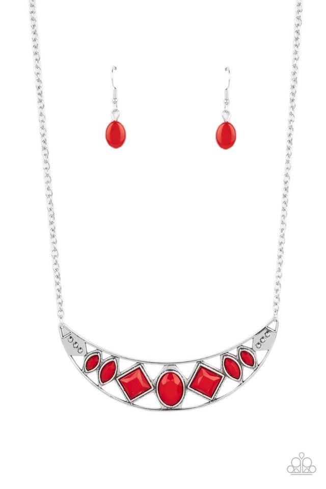 Emblazoned Era - Red - Paparazzi Necklace Image