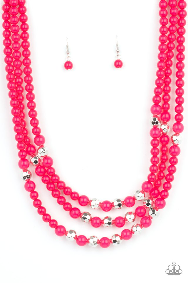 STAYCATION All I Ever Wanted - Pink - Paparazzi Necklace Image