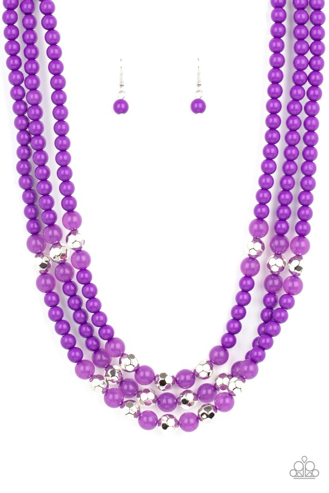 STAYCATION All I Ever Wanted - Purple - Paparazzi Necklace Image