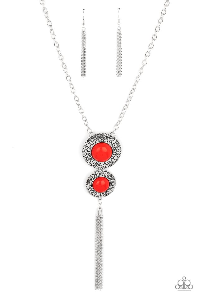 Abstract Artistry - Red - Paparazzi Necklace Image