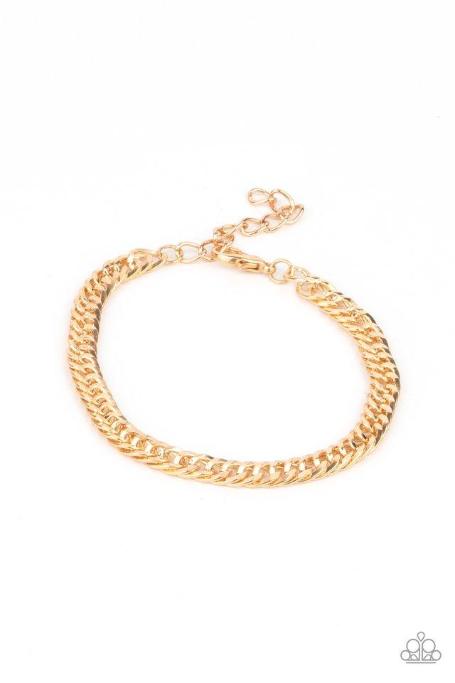 Very Valiant - Gold - Paparazzi Bracelet Image