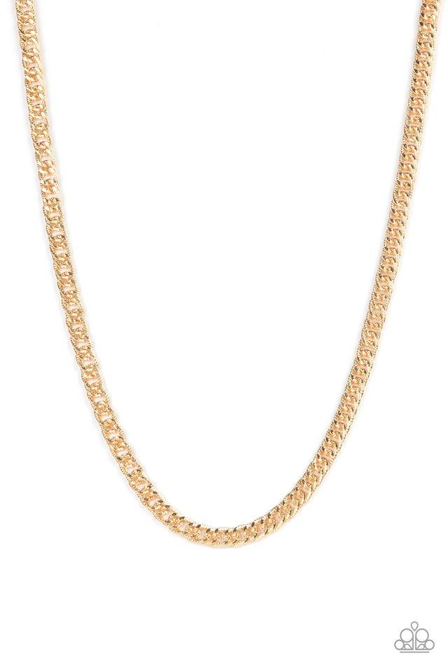 Valiant Victor - Gold - Paparazzi Necklace Image