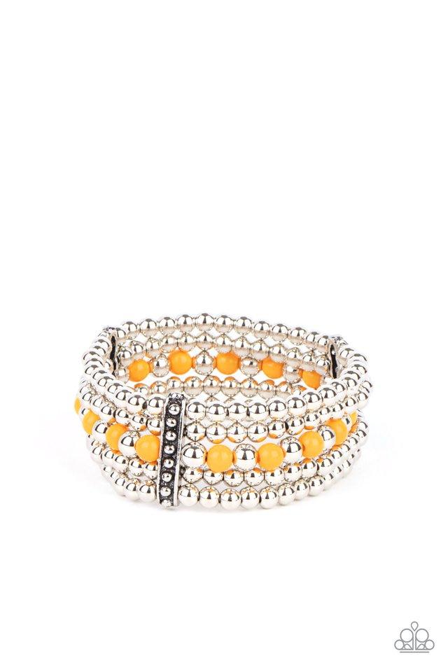 Gloss Over The Details - Orange - Paparazzi Bracelet Image