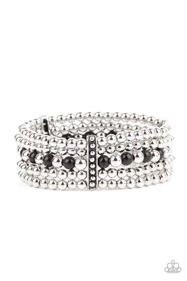 Gloss Over The Details - Black - Paparazzi Bracelet Image
