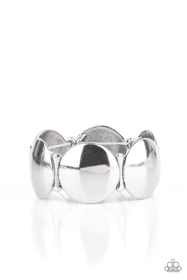 Going, Going, GONG! - Silver - Paparazzi Bracelet Image