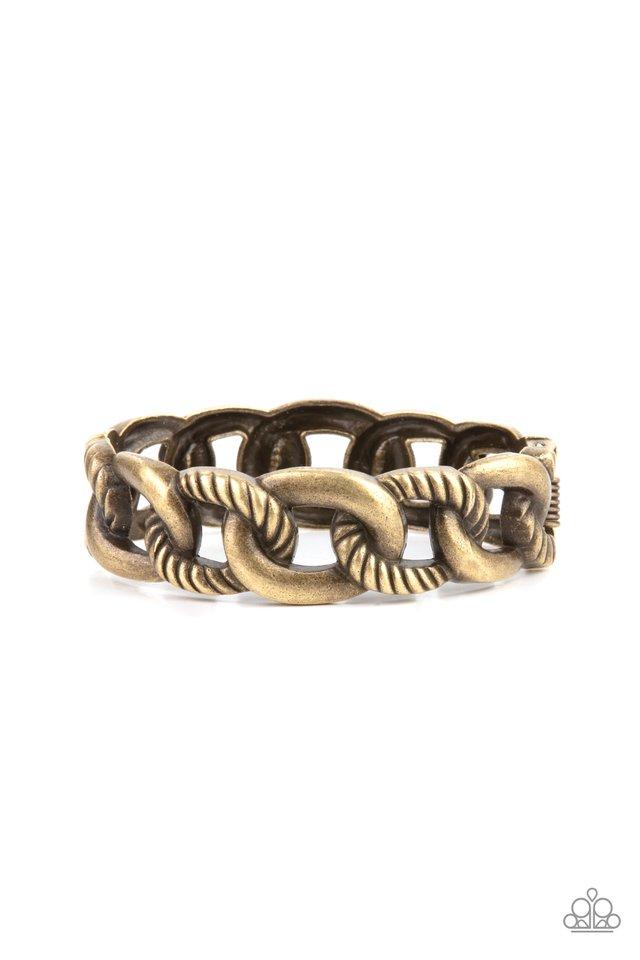 Bold Move - Brass - Paparazzi Bracelet Image