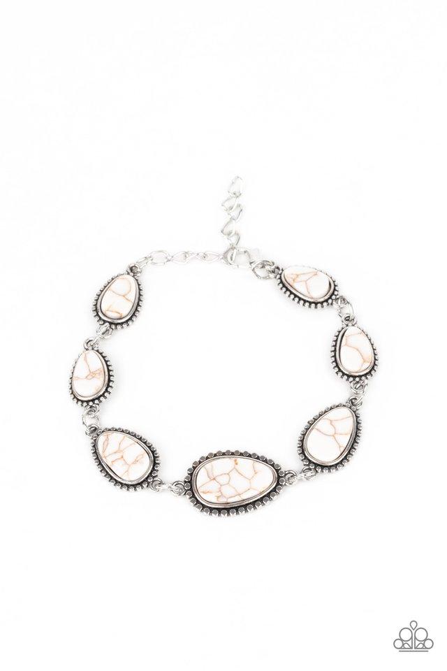 Elemental Exploration - White - Paparazzi Bracelet Image