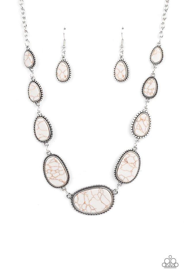 Elemental Eden - White - Paparazzi Necklace Image