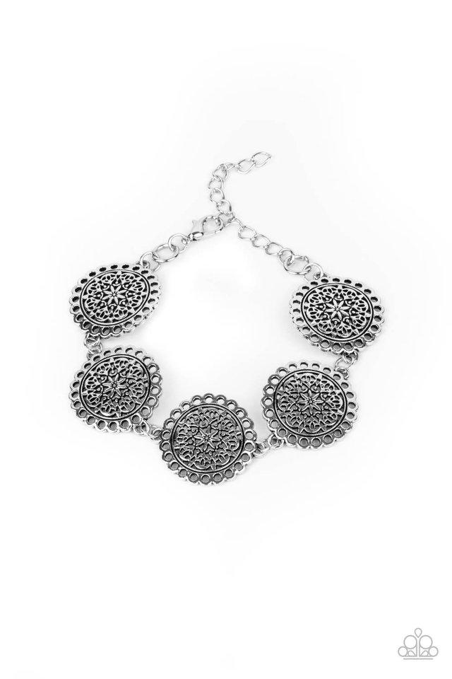 Garden Gate Glamour - Silver - Paparazzi Bracelet Image