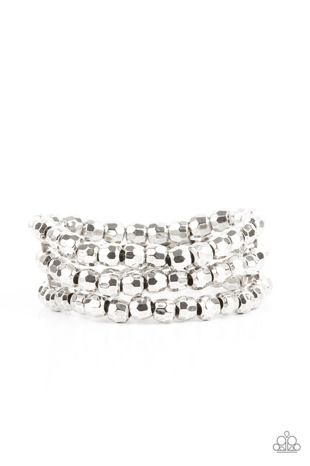 Magnetically Maven - Silver - Paparazzi Bracelet Image
