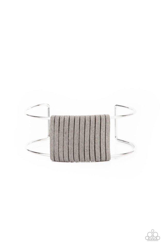 Free Expression - Silver - Paparazzi Bracelet Image