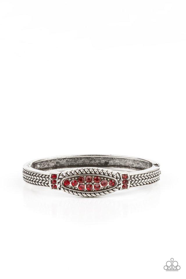 Locked in Luster - Red - Paparazzi Bracelet Image