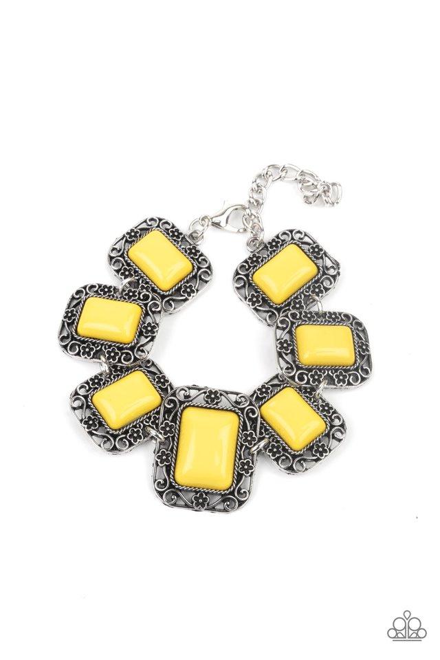 Retro Rodeo - Yellow - Paparazzi Bracelet Image