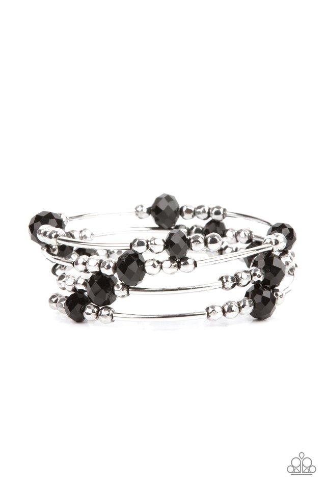 Showy Shimmer - Black - Paparazzi Bracelet Image