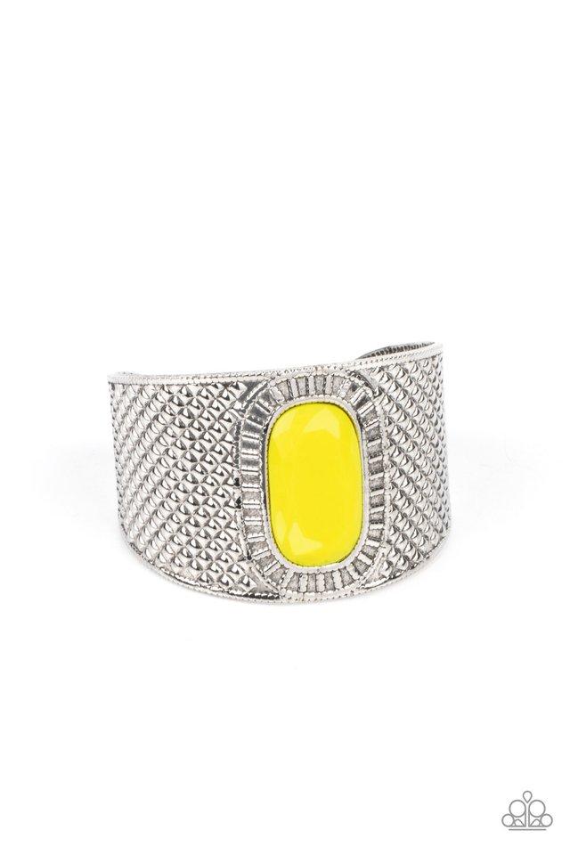 Poshly Pharaoh - Yellow - Paparazzi Bracelet Image
