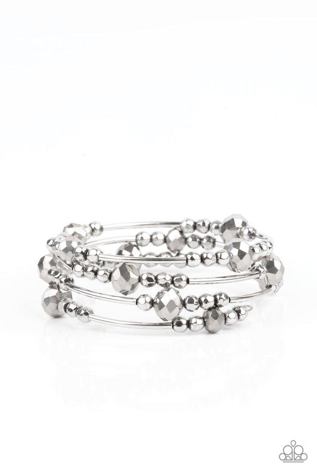 Showy Shimmer - Silver - Paparazzi Bracelet Image