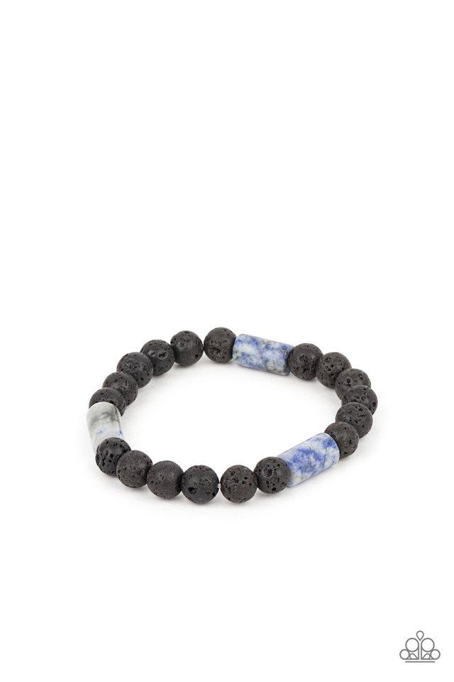 Earthy Energy - Blue - Paparazzi Bracelet Image