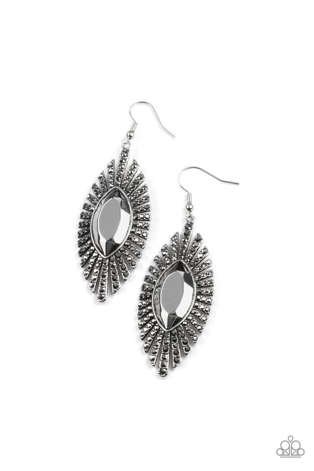 Who Is The FIERCEST Of Them All - Silver - Paparazzi Earring Image