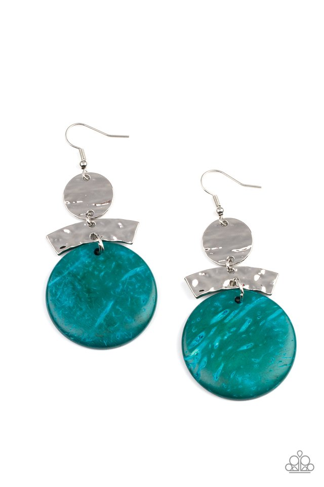 ​Diva Of My Domain - Blue - Paparazzi Earring Image