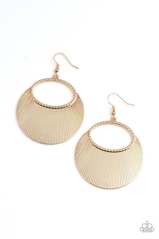Fan Girl Glam - Gold - Paparazzi Earring Image