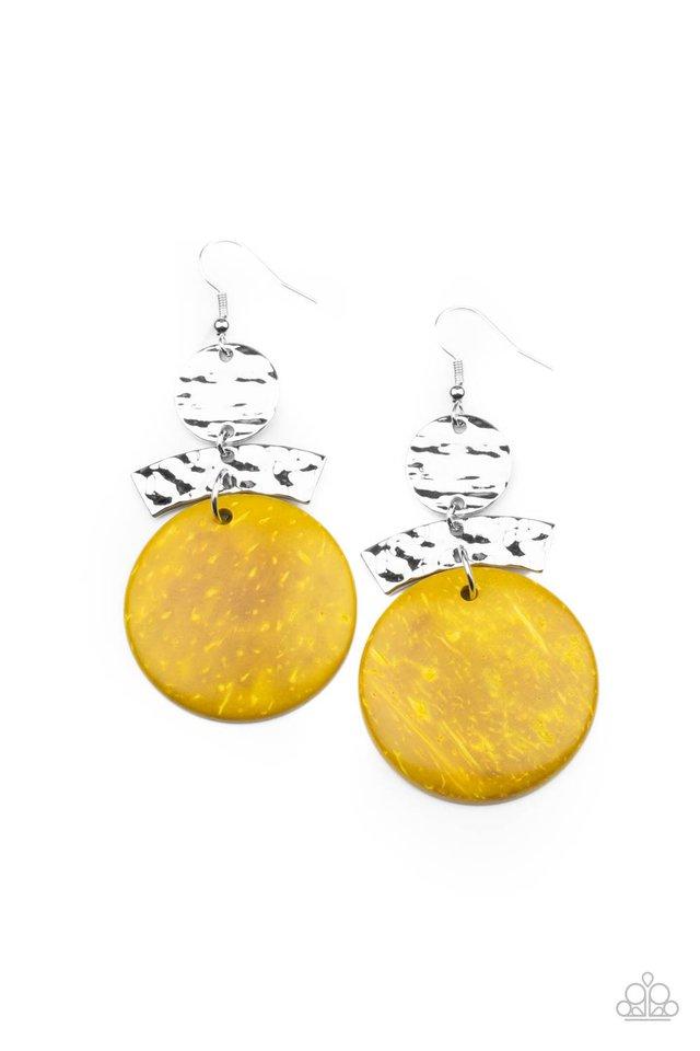Diva Of My Domain - Yellow - Paparazzi Earring Image