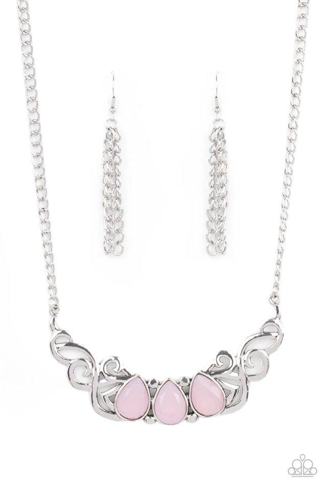Heavenly Happenstance - Pink - Paparazzi Necklace Image