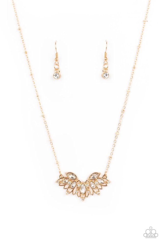 Deluxe Diadem - Gold - Paparazzi Necklace Image