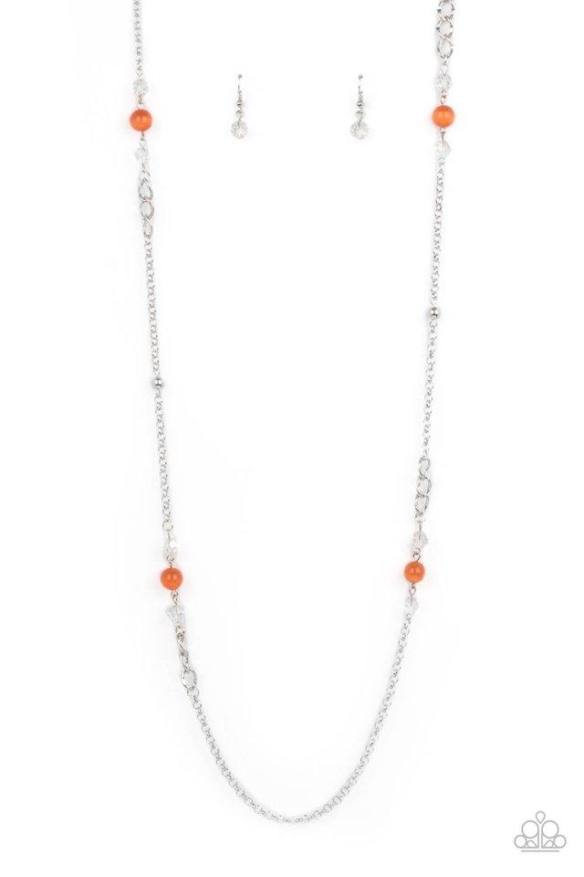 Teasingly Trendy - Orange - Paparazzi Necklace Image