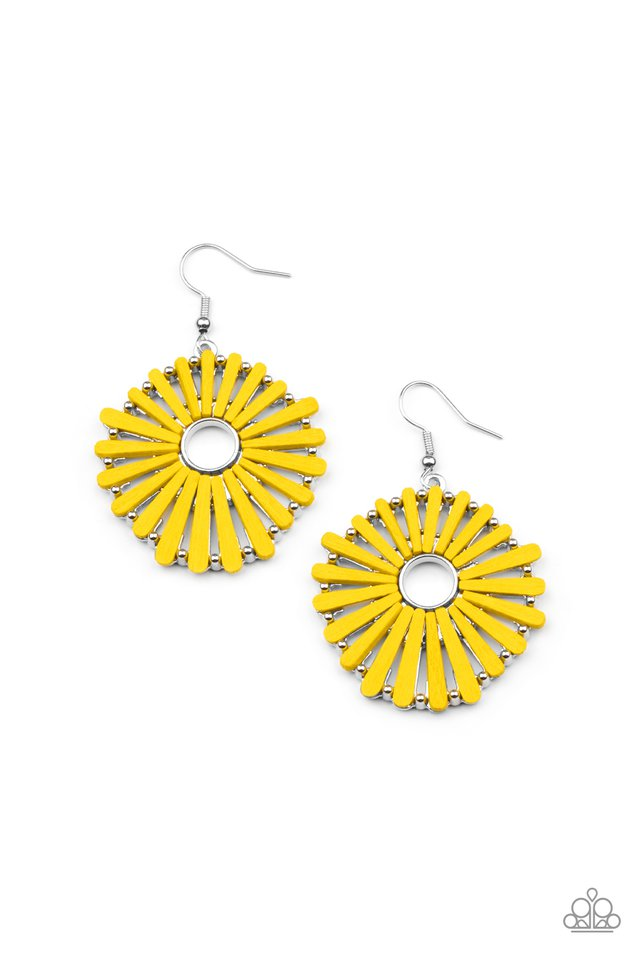 SPOKE Too Soon - Yellow - Paparazzi Earring Image