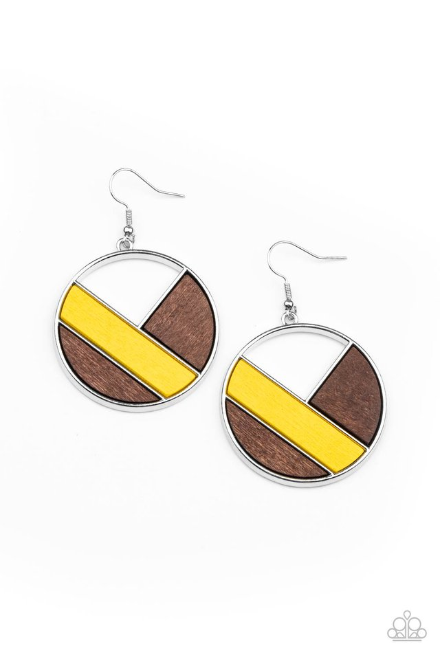 Dont Be MODest - Yellow - Paparazzi Earring Image
