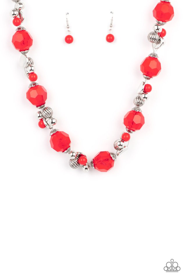 Vidi Vici VACATION - Red - Paparazzi Necklace Image