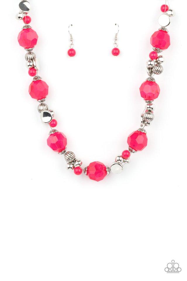 Vidi Vici VACATION - Pink - Paparazzi Necklace Image