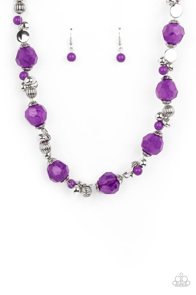 Vidi Vici VACATION - Purple - Paparazzi Necklace Image