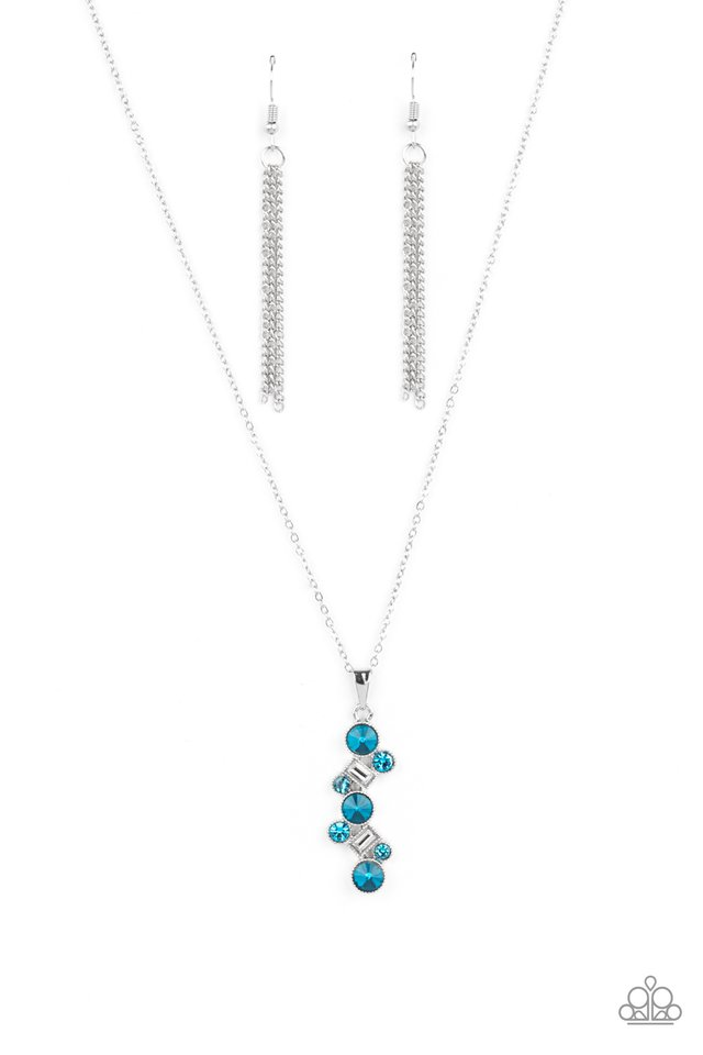 Classically Clustered - Blue - Paparazzi Necklace Image