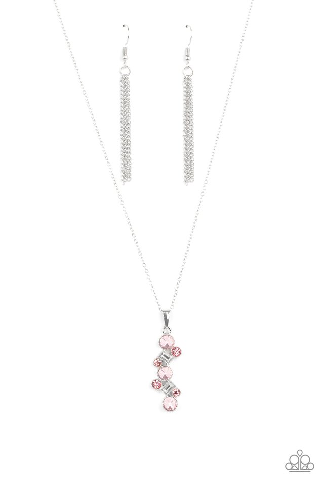 Classically Clustered - Pink - Paparazzi Necklace Image