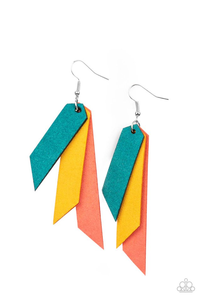 Suede Shade - Mult - Paparazzi Earring Image
