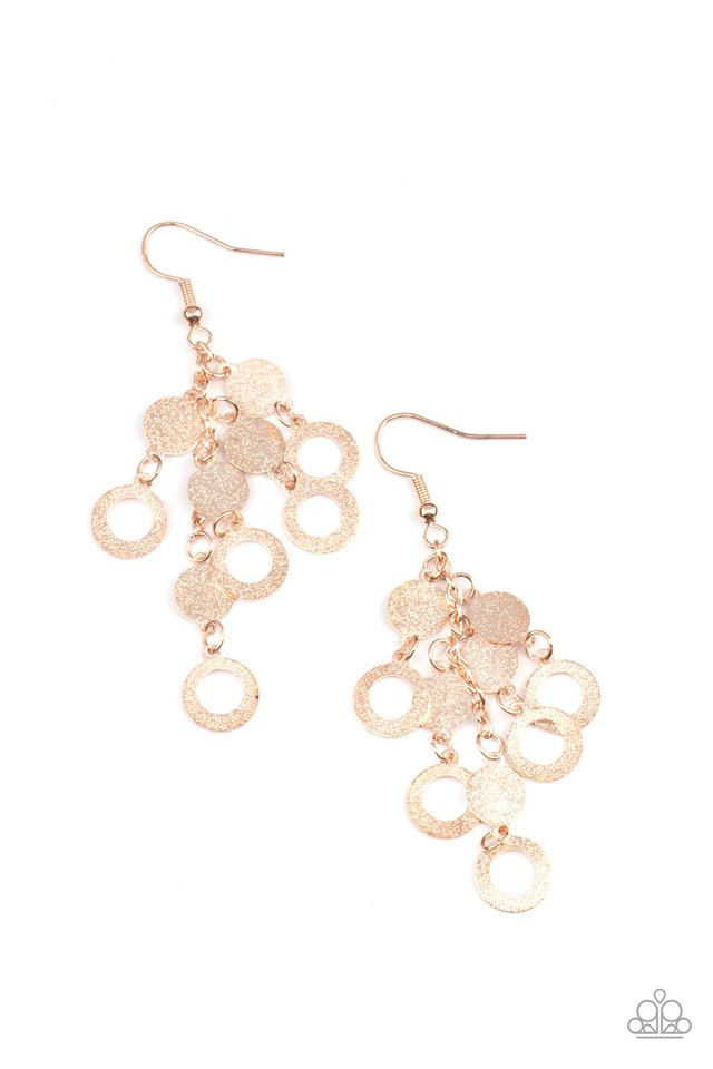 Im Always BRIGHT - Rose Gold - Paparazzi Earring Image