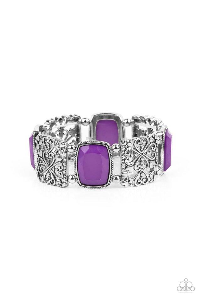 Colorful Coronation - Purple - Paparazzi Bracelet Image