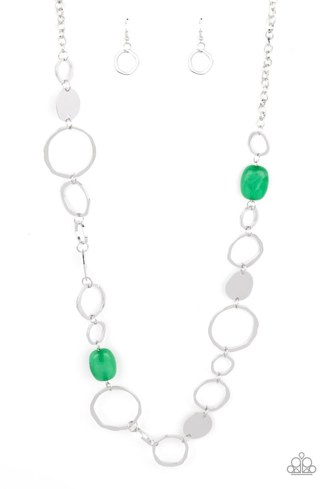 Colorful Combo - Green - Paparazzi Necklace Image