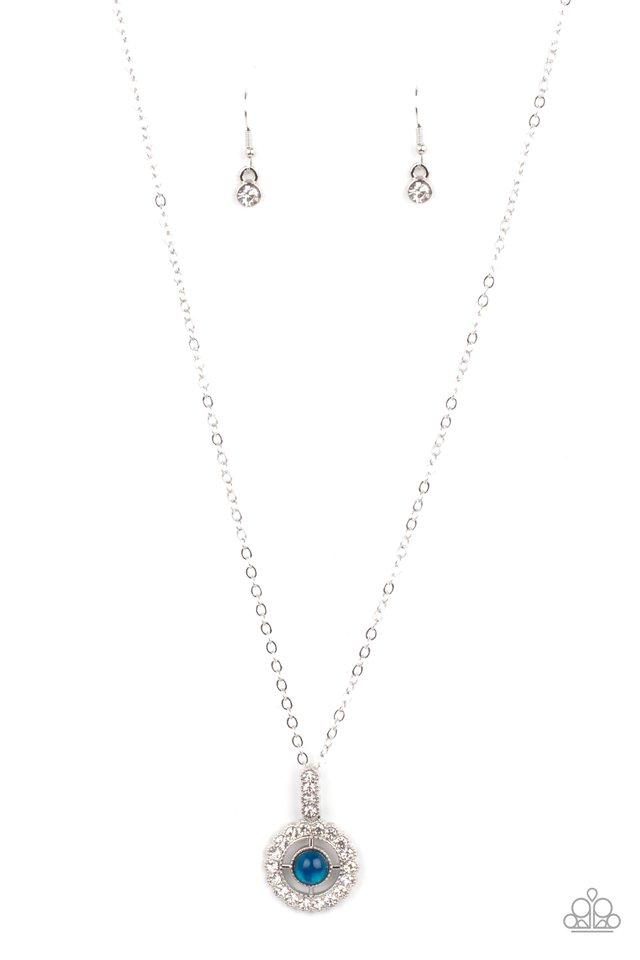 Springtime Twinkle - Blue - Paparazzi Necklace Image