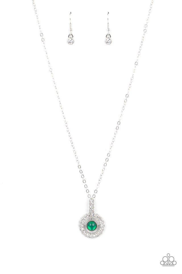 Springtime Twinkle - Green - Paparazzi Necklace Image