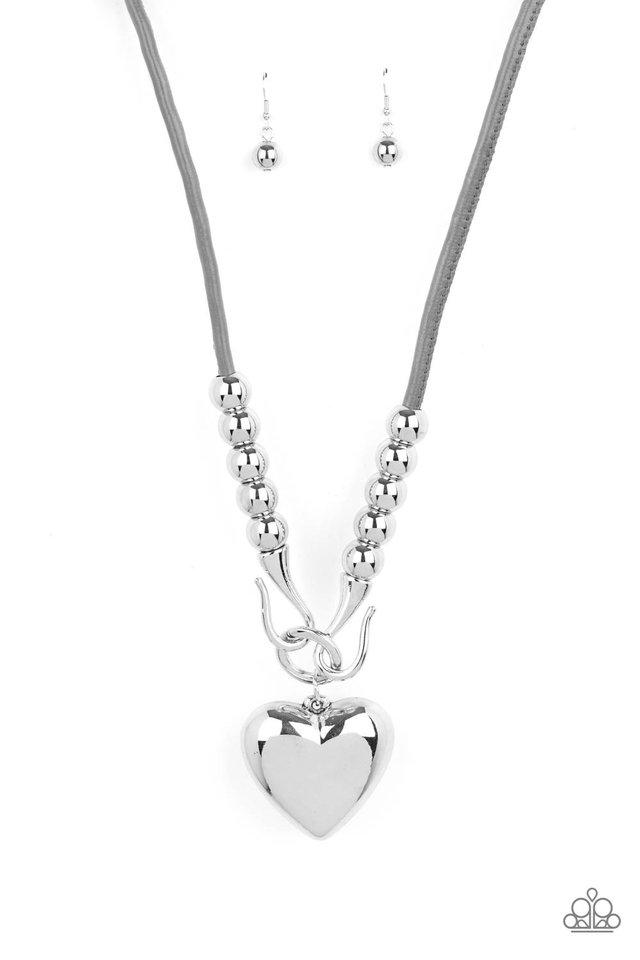 Forbidden Love - Silver - Paparazzi Necklace Image