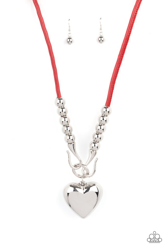 Forbidden Love - Red - Paparazzi Necklace Image