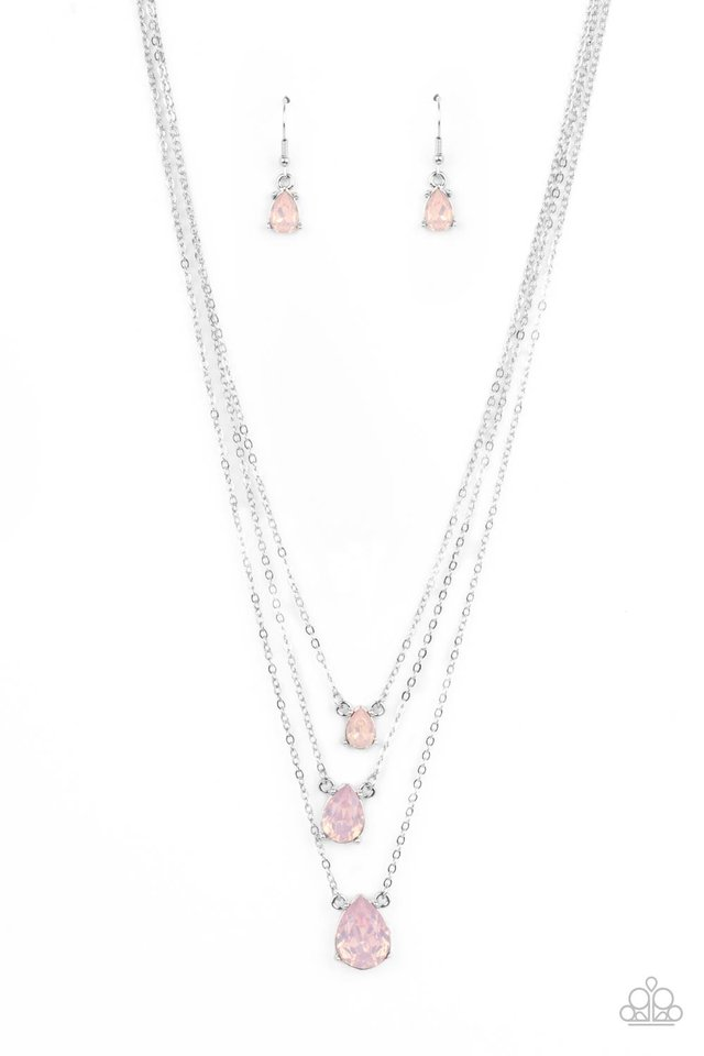 Dewy Drizzle - Pink - Paparazzi Necklace Image