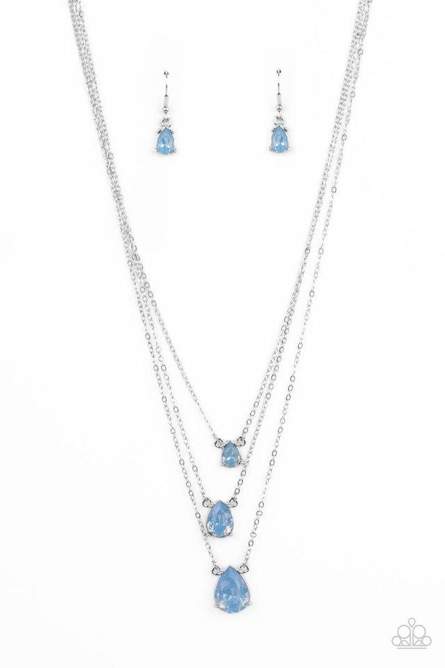 Dewy Drizzle - Blue - Paparazzi Necklace Image