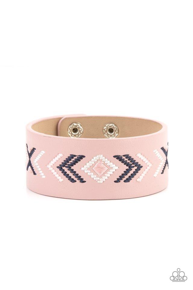 Cliff Glyphs - Pink - Paparazzi Bracelet Image