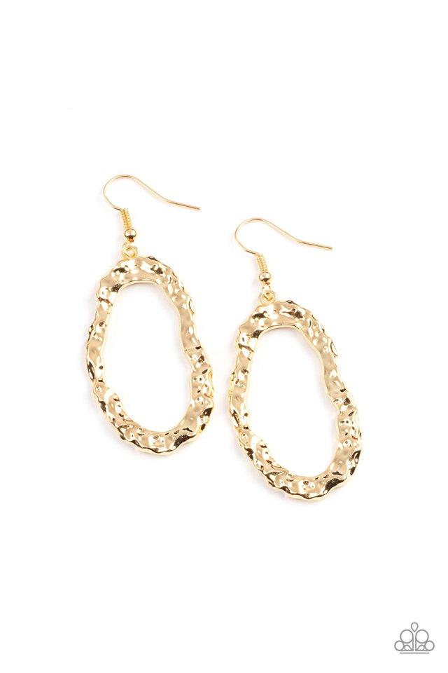 ARTIFACT Checker - Gold - Paparazzi Earring Image