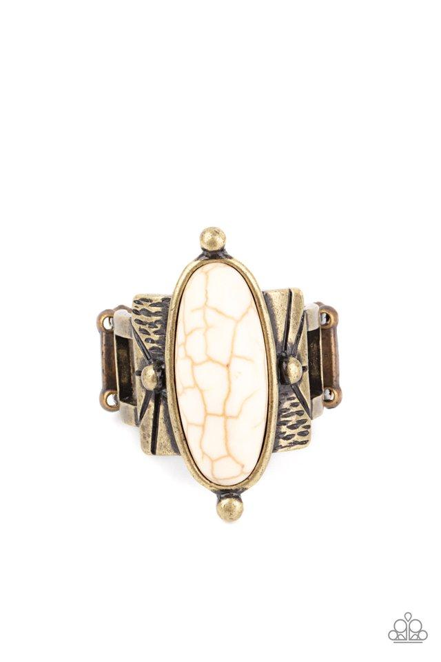 This BADLAND Is My BADLAND - Brass - Paparazzi Ring Image