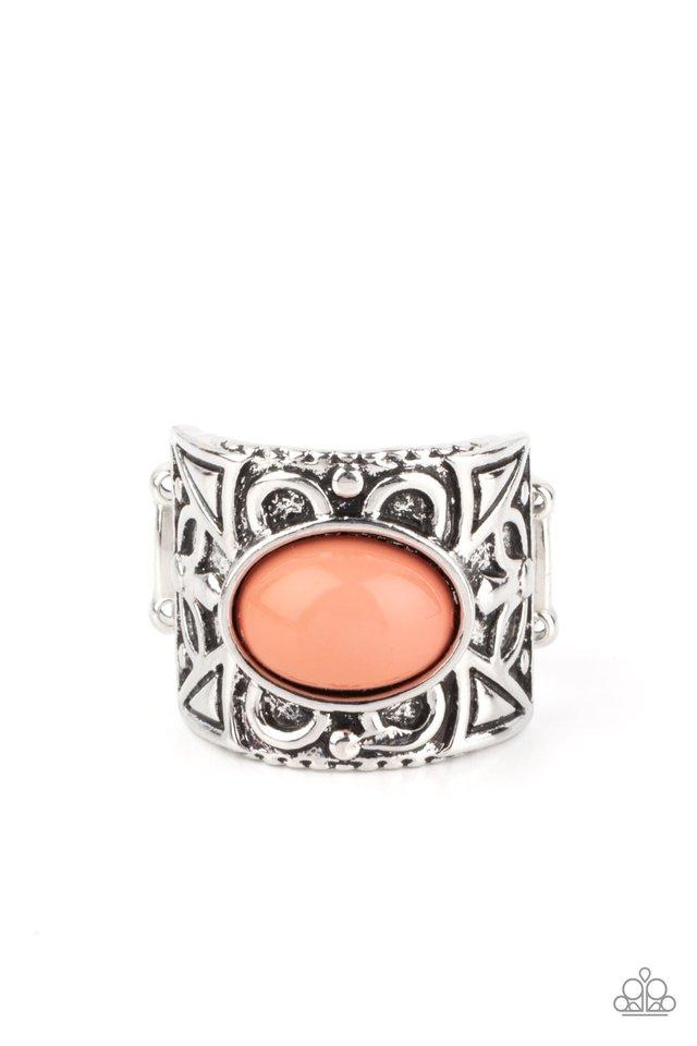 Bubbly Bonanza - Orange - Paparazzi Ring Image